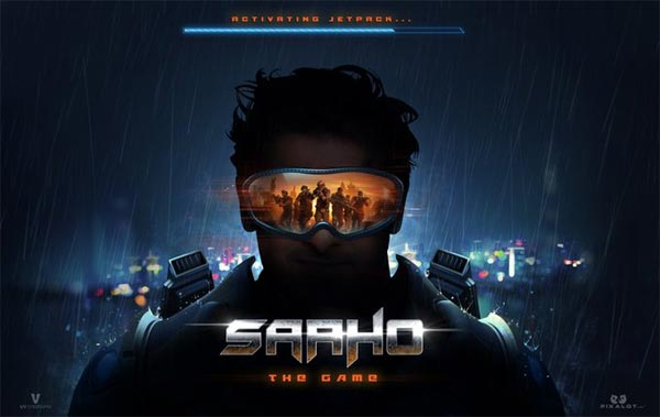 Saaho Prasbas Movie 2019 Launched Saaho Game with thriller action
