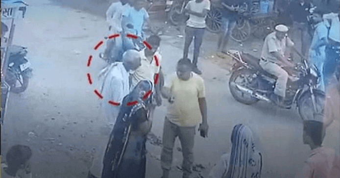 A-viral-video-showed-policeman-slapping-an-old-man-could-not-get-up-when-he-fell