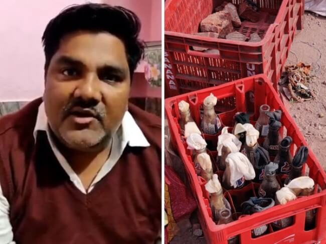 AAP MLA found in Tahir Hussain house Petrol bombs, acid packets and stones