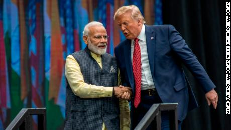 Donald Trump tweeted on twitter a few hours before coming to India