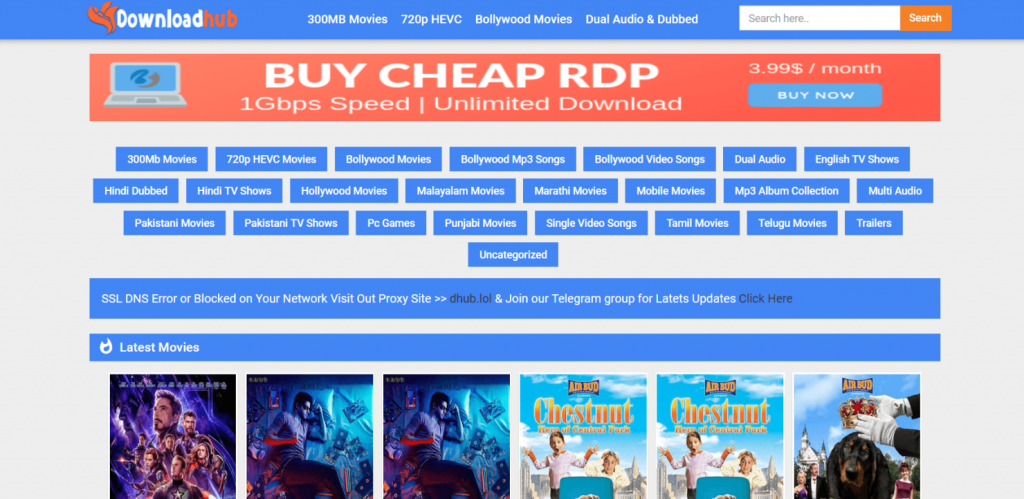 Downloadhub: In 2020 Download 300MB Bollywood & Hollywood Movies